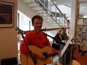 Andreas Eriksson på stadsbiblioteket
